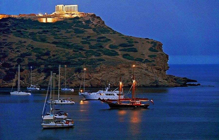 Cape Sounio Bay, Attica Coasts